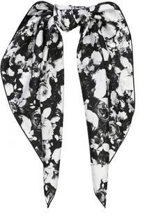 Шелковый платок с цветочным принтом Givenchy