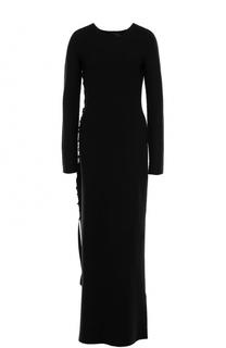 Шерстяное платье-макси с разрезом The Row