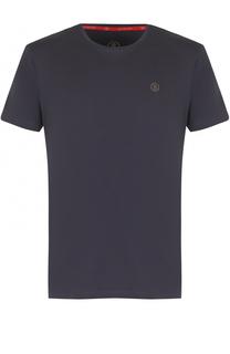Хлопковая футболка с логотипом бренда Bogner