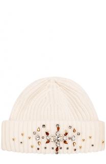 Шапка из смеси шерсти и кашемира с кристаллами Il Trenino