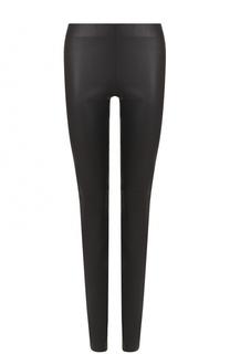 Кожаные брюки-скинни Escada Sport