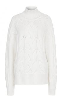 Вязаный свитер с фактурной отделкой BOSS