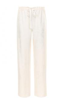 Шелковые брюки с фактурной отделкой The Row