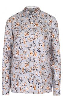 Блуза прямого кроя с принтом BOSS