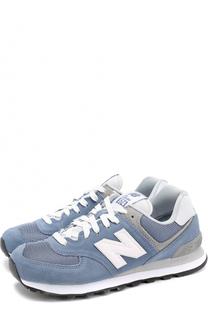 Замшевые кроссовки 574 с сетчатой вставкой New Balance