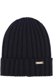 Шерстяная шапка фактурной вязки Il Trenino