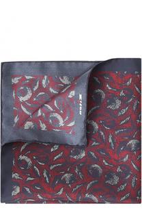 Шелковый платок с принтом Kiton