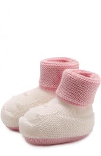 Шерстяные носки фактурной вязки Baby T
