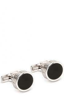 Серебряные запонки Giorgio Armani