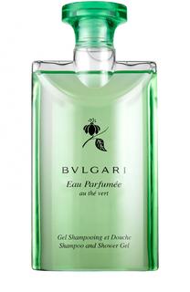 Парфюмированный шампунь и гель для душа au the vert BVLGARI