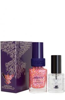 Лак для ногтей Pink Confetti + Bond-подготовка Christina Fitzgerald
