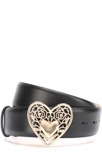 Кожаный ремень с пряжкой в виде сердца Elie Saab