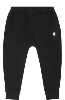 Спортивные брюки из хлопка с логотипом бренда Marcelo Burlon Kids of Milan
