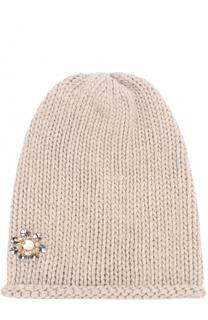 Вязаная шапка из кашемира с декором Inverni