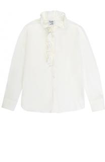 Блуза прямого кроя с оборками Aletta