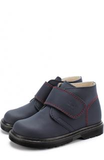 Кожаные ботинки с застежками велькро Il Gufo