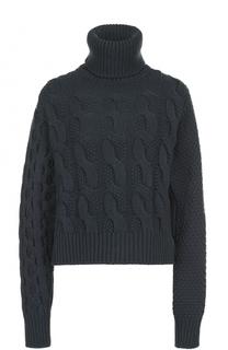Шерстяной свитер фактурной вязки Mm6