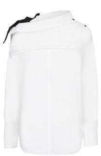 Хлопковая блуза ассиметричного кроя Proenza Schouler