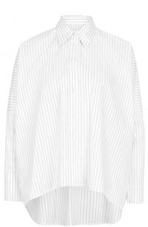 Блуза асимметричного кроя в контрастную полоску Mm6