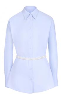 Хлопковая блуза с декорированным поясом Mm6