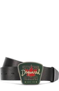 Кожаный ремень с фигурной пряжкой Dsquared2