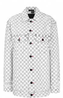 Джинсовая куртка в контрастную клетку Denim X Alexander Wang