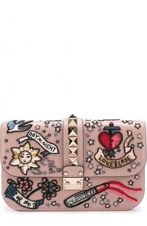 Сумка Glam Lock с вышивкой Valentino