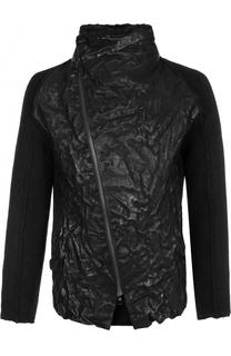 Кожаная куртка на молнии с шерстяной отделкой Transit
