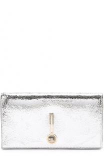 Клатч из металлизированной кожи Escada