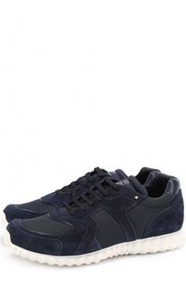 Комбинированные кроссовки на шнуровке Valentino
