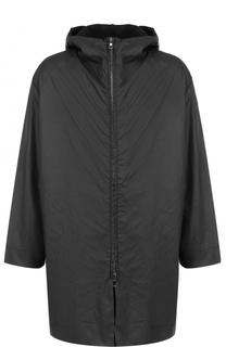 Хлопковое пальто на молнии свободного кроя с подстежкой Transit