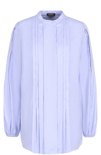 Хлопковая блуза с плиссированной отделкой Escada