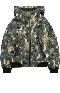 Куртка с принтом и капюшоном Burberry