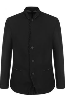 Однобортный пиджак из смеси шерсти и вискозы Transit