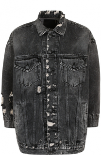 Джинсовая куртка с потертостями R13