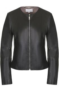 Кожаная приталенная куртка Escada Sport