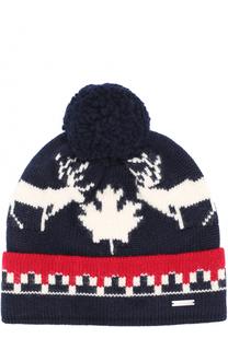 Шерстяная шапка с помпоном Dsquared2
