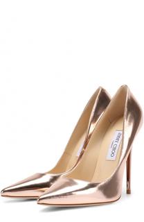 Туфли Anouk из металлизированной кожи на шпильке Jimmy Choo