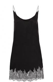 Шерстяное мини-платье с кружевной отделкой Walk of Shame