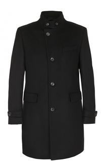 Пальто прямого кроя из смеси шерсти и кашемира BOSS
