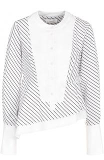 Хлопковая блуза ассиметричного кроя Carven
