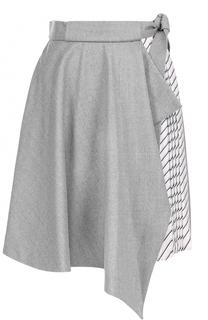 Шерстяная юбка-миди с декоративной отделкой Carven