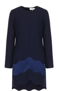 Мини-платье с фактурной отделкой Carven