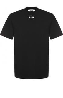 Хлопковая футболка с круглым вырезом MSGM