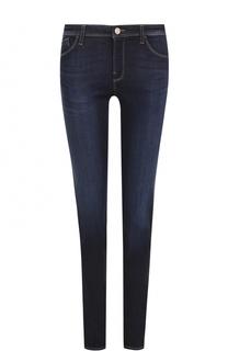 Джинсы-скинни с контрастной прострочкой Armani Jeans