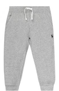 Спортивные брюки из хлопка на кулиске с логотипом бренда Polo Ralph Lauren