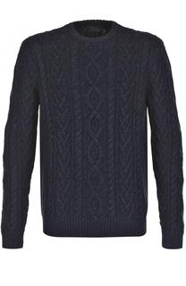 Джемпер фактурной вязки из смеси хлопка и кашемира Polo Ralph Lauren