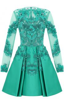 Шелковое платье-миди с вышивкой Zuhair Murad