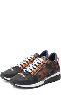 Комбинированные кроссовки 551 с камуфляжным принтом Dsquared2