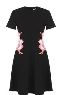 Хлопковое платье-миди с вышивкой Carven